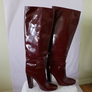 Chloè High Boots in Burgundy (10)